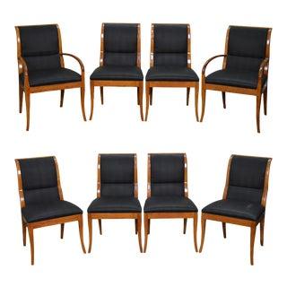Henredon Mid Century Modern Robsjohn Gibbings Style Set of 8 Chairs