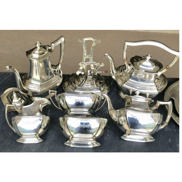 1940s R. Wallace and Sons of Wallingford Circa 1940 American Sterling Tea Service - Set of 7 For Sale - Image 5 of 7