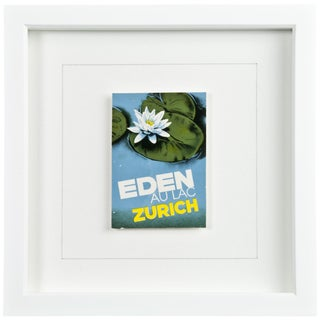 Framed Vintage Hotel Luggage Label - Hotel Eden Zurich