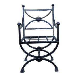 1980s Vintage Black Outdoor Chair For Sale