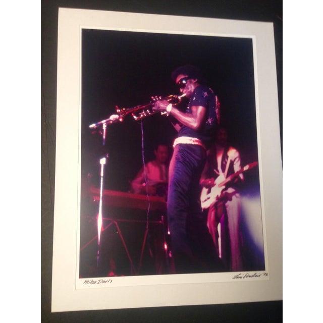 Original Miles Davis Photo Signed - Image 2 of 2
