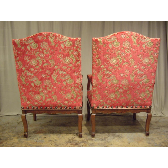 French Provincial Regence Armchairs - a Pair For Sale - Image 4 of 7