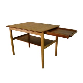 1950s Scandinavian Modern Hans Wegner Occasional or End Tray Table For Sale