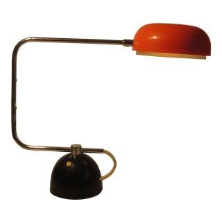 1960s Sonneman Orange & Black Tak Desk Lamp For Sale