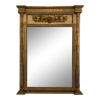Neoclassical Style Trumeau Mirror For Sale