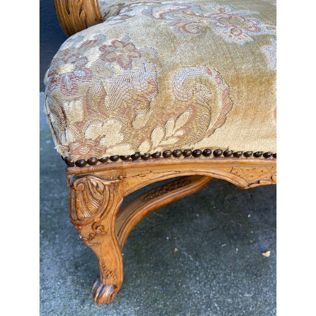 Late 18th Century Single 18th C. French Regence Walnut Carved Arm Chair For Sale - Image 5 of 12