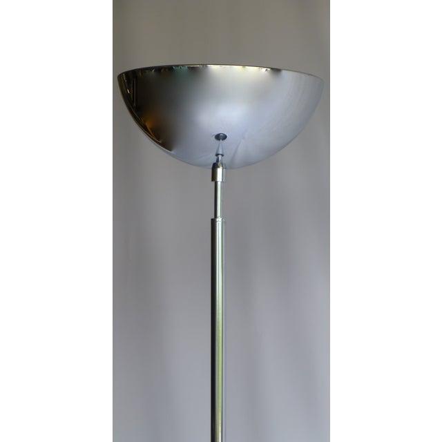 Italian Vintage Italian Chrome Floor Lamp For Sale - Image 3 of 7
