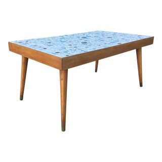 Mid Century Modern Tile Top Coffee Table (1950's) For Sale
