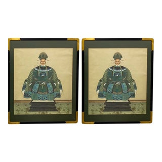 Chinese Ancestral Portraits - a Pair For Sale