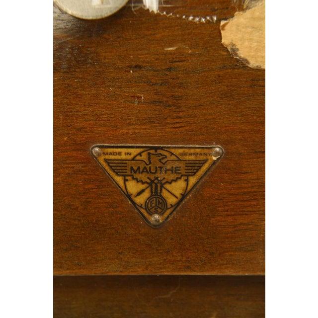 German Art Deco Walnut Mantel Clock For Sale - Image 4 of 5