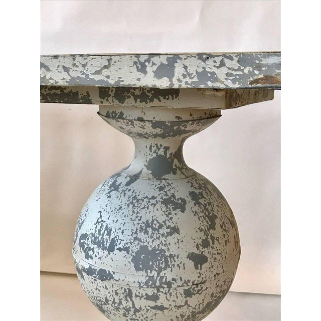 Neoclassical Zinc Garden Table For Sale - Image 3 of 7