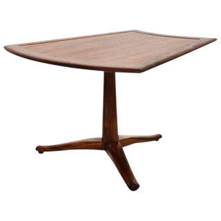 Side Walnut Table Parallel by Barney Flagg for Drexel For Sale