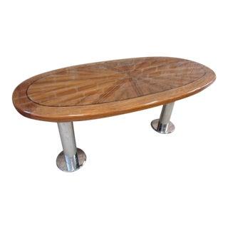 Art Deco Wolf of Wall Street Yacht Set Piece Mahogany Fly Deck Table