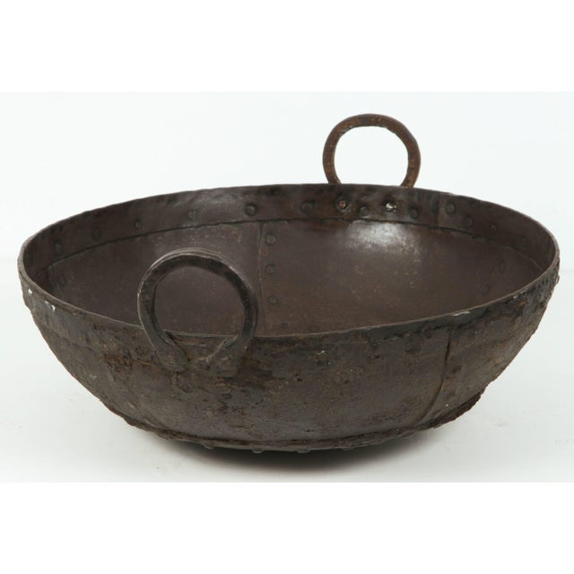 Mid 20th Century Large Metal Jardinieres From Southern India For Sale - Image 5 of 10