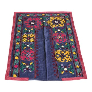 Pink & Blue Suzani Fabric For Sale