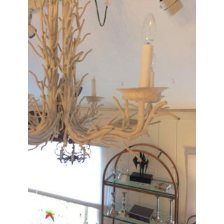 Organic Modern White Metal Faux Twig Chandelier Preview
