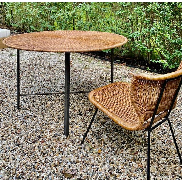 This is a very rare table by Arthur Umanoff. It is sold separately, we are also listing 3 chairs that go with the table....