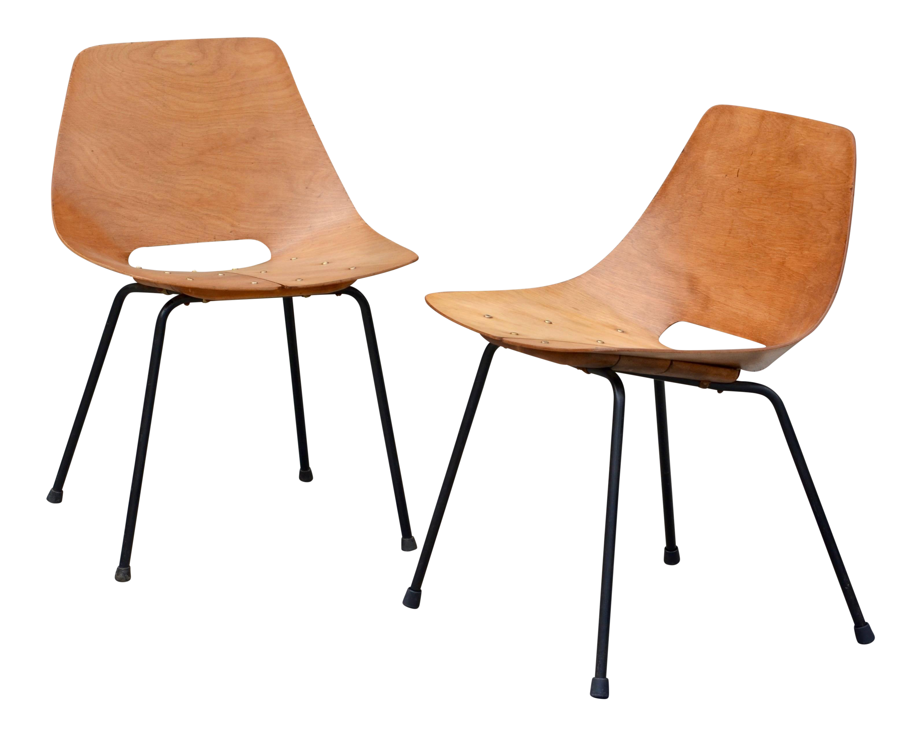 Pair of Bent Plywood Tonneau Side Chairs by Pierre Guariche For Sale  sc 1 st  Decaso & Excellent Pair of Bent Plywood Tonneau Side Chairs by Pierre ...