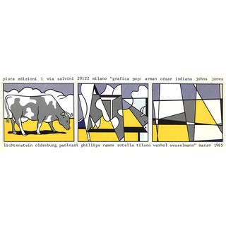 Roy Lichtenstein, Cow Going Abstract, Offset Lithograph, 1985 For Sale