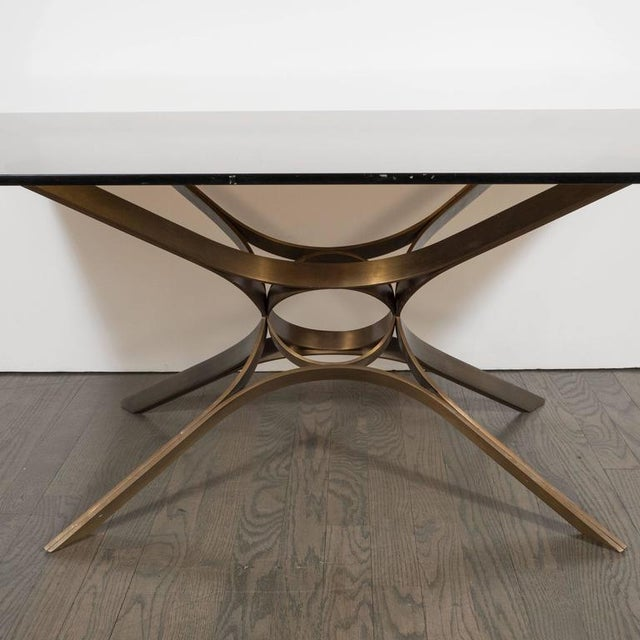 1970s Mid-Century Cocktail Table in Bronze and Glass by Roger Sprunger for Dunbar For Sale - Image 5 of 7