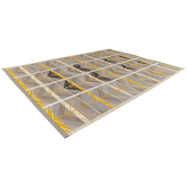 21st Century Modern Scandinavian Style Flat-Weave Rug For Sale - Image 10 of 12