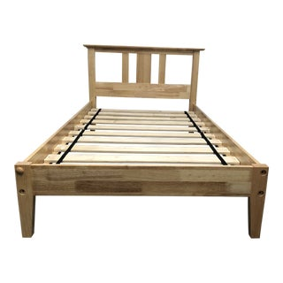 Twin Size Maple Finish Platform Bed Frame For Sale