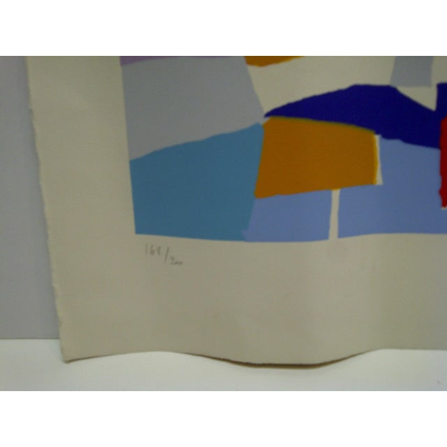 "Colorful Abstract French Print ""De Phare Rouge"" by Hasch For Sale In Pittsburgh - Image 6 of 8"