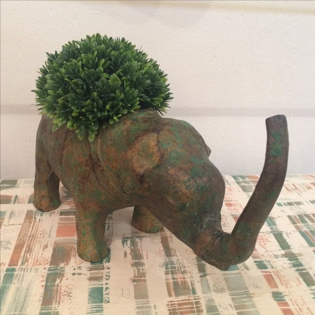 Japanese Cast Metal Elephant Planter - Image 3 of 7
