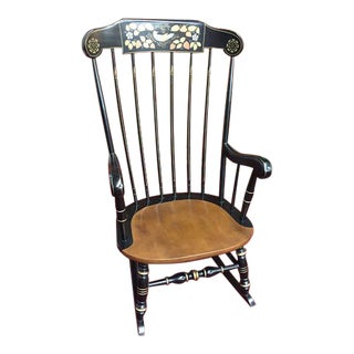 "Ethan Allen Maple ""Boston Rocker"" Rocking Chair For Sale"