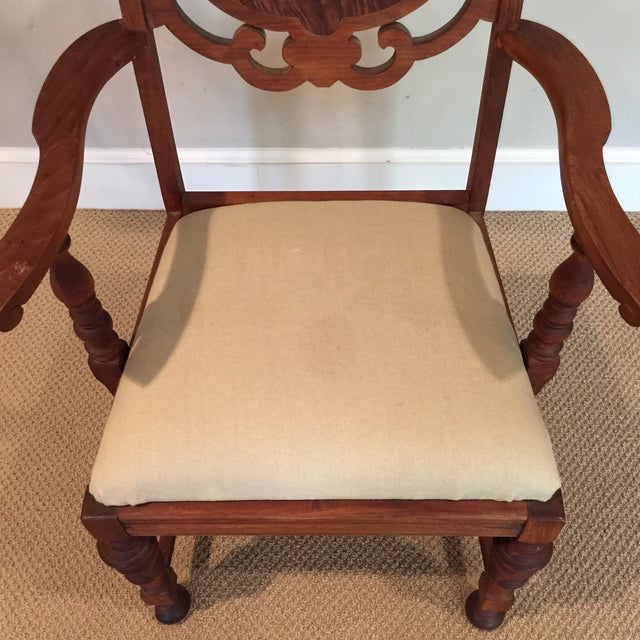 Carved Mahogany Armchair - Image 5 of 11