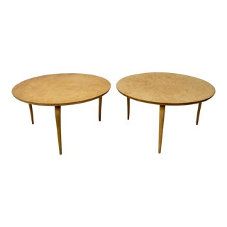 "1940s Vintage Bruno Mathsson Burl Birch ""Annika"" Side Tables - a Pair"