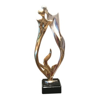 Contemporary Flame D'Argenta Sculpture