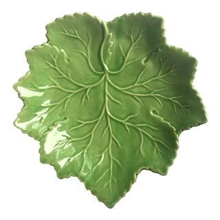 """Vintage Olfaire Majolica 10"""" Leaf Plate"""