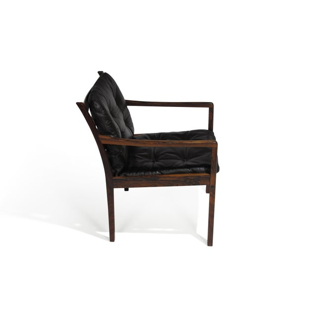 Ole Wanscher Rosewood Lounge Chairs in Original Leather - a Pair For Sale In San Francisco - Image 6 of 11