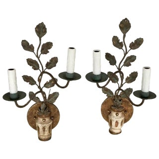 Pair of Italian Neoclassic Wall Sconces For Sale