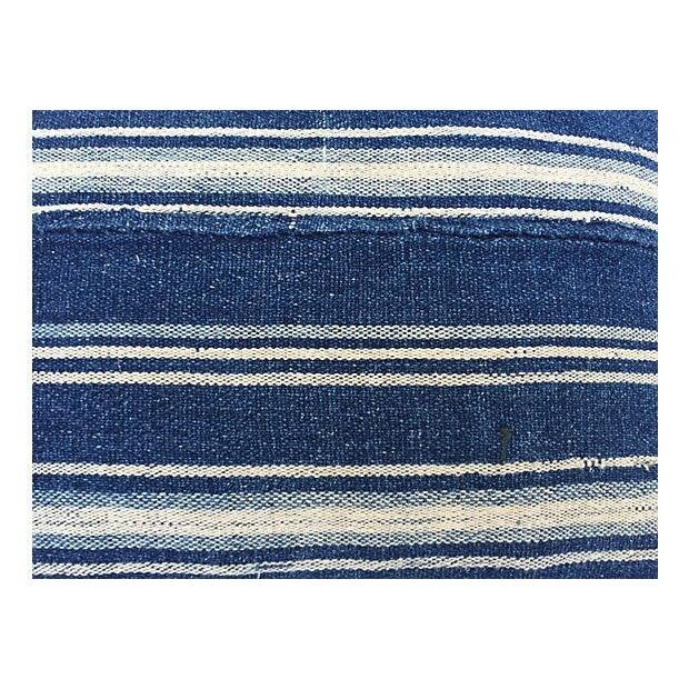 African Indigo Striped Pillows - a Pair - Image 5 of 5