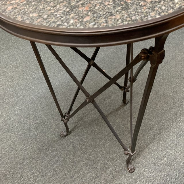 Global Views Directoire Side Table For Sale - Image 9 of 10