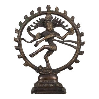 "Bronze Hindu 8.5"" Shiva as Lord of the Dance Sculpture C.1930 For Sale"