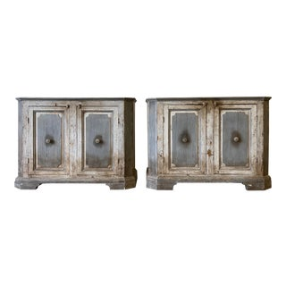 Pair of Tuscan Sideboard Buffet Cabinets For Sale