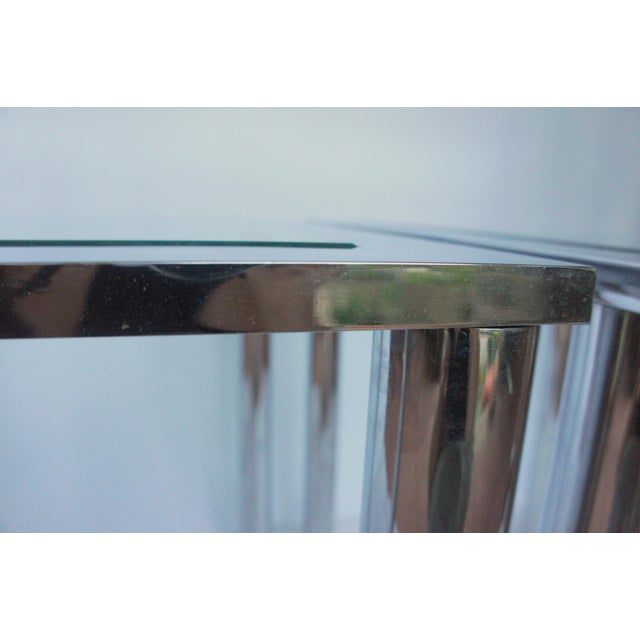 Milo Baughman Chrome & Glass End Tables - A Pair For Sale - Image 9 of 11