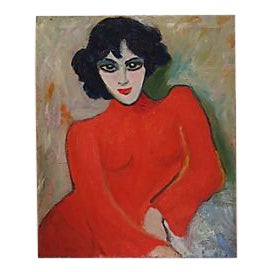 Mid-Century French Portrait of a Woman