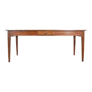 19th Century French Provincial Ash Farm Table For Sale