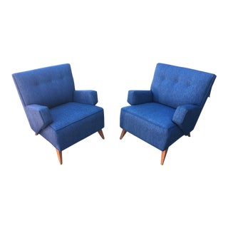 Jens Risom for Knoll Lounge Chairs - A Pair For Sale