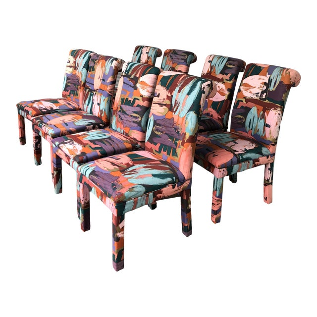 Vintage Parsons Chairs Chairs Set of 8 For Sale