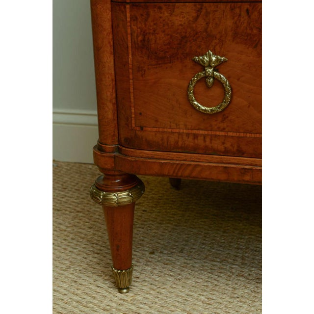 Gold 19c. French Parquetry Secretaire / Commode For Sale - Image 8 of 10