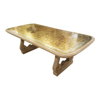 1940 Louis XVI Maison Jansen Gold and Silver Gilt Dining Table For Sale
