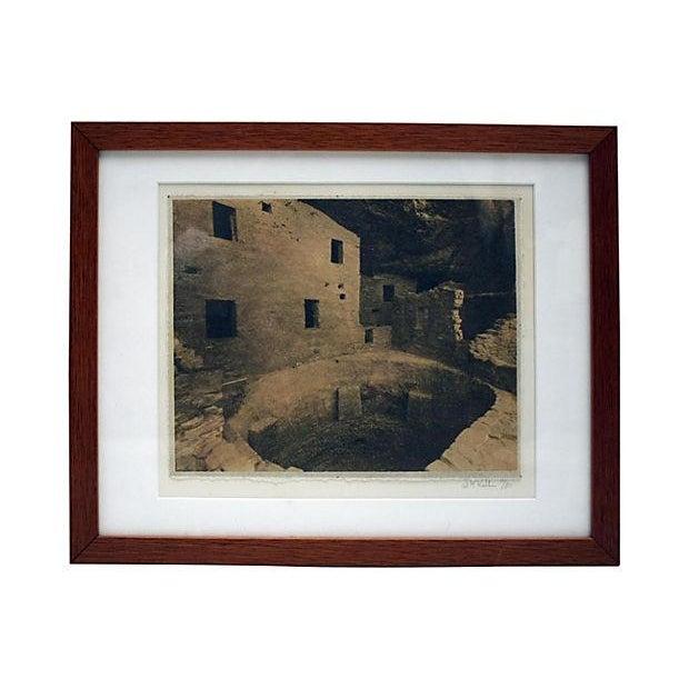 Framed Sepia Toned Vintage Signed Photograph For Sale