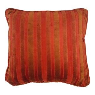 Mid Century Cut Velvet Striped Pillow