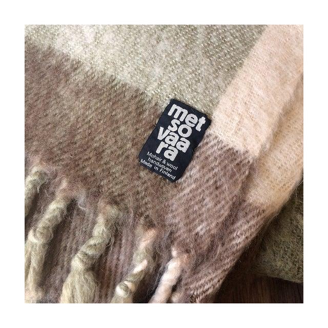 Metsovaara Scandinavia Wool Mohair Blanket For Sale - Image 5 of 6