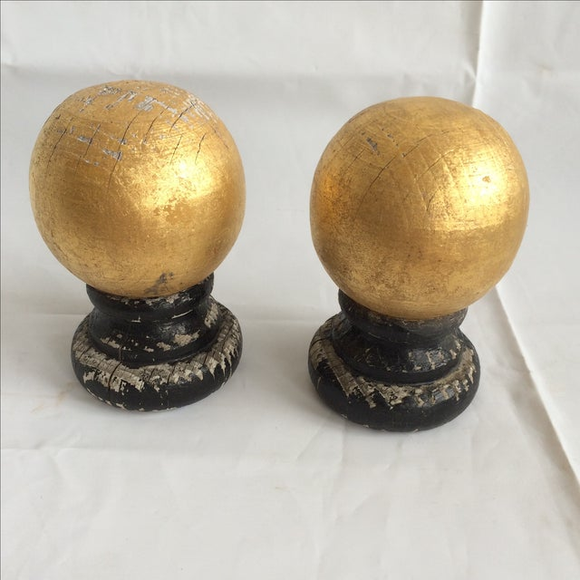 Wooden Guided Finials - A Pair - Image 2 of 5